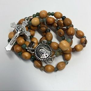Holy Land Olive Wood Our Lady of Guadalupe Rosary